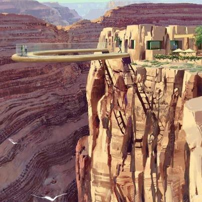 sb Glass Bottom Skywalk, Grand Canyon, Arizona