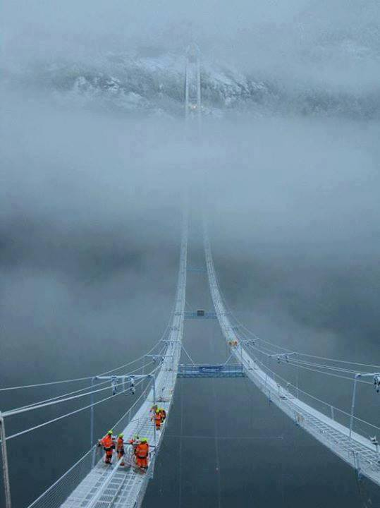 The Norway Sky Bridge way to heaven