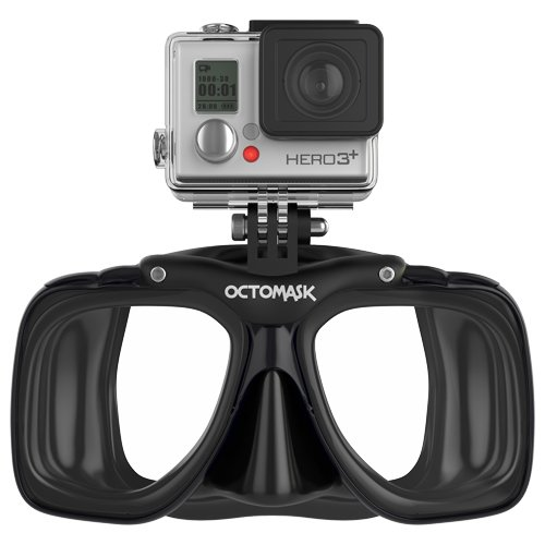 GoPro Hero 3+ Compatible Scuba Mask (Black) - for Diving with GoPro® Hero3 Black, Silver, and White Accessory