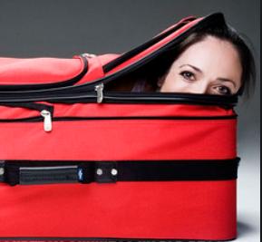 Olympia Luggage 26 8 Pocket Rolling Duffel Bag Lady2