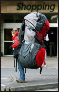 Olympia Luggage 26 8 Pocket Rolling Duffel Bag Shopping