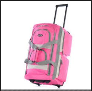 Olympia Luggage 26 8 Pocket Rolling Duffel Bag4